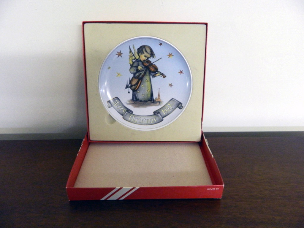 Hummel Christmas Angel Plate 1987 In Box Jenkins Antiques