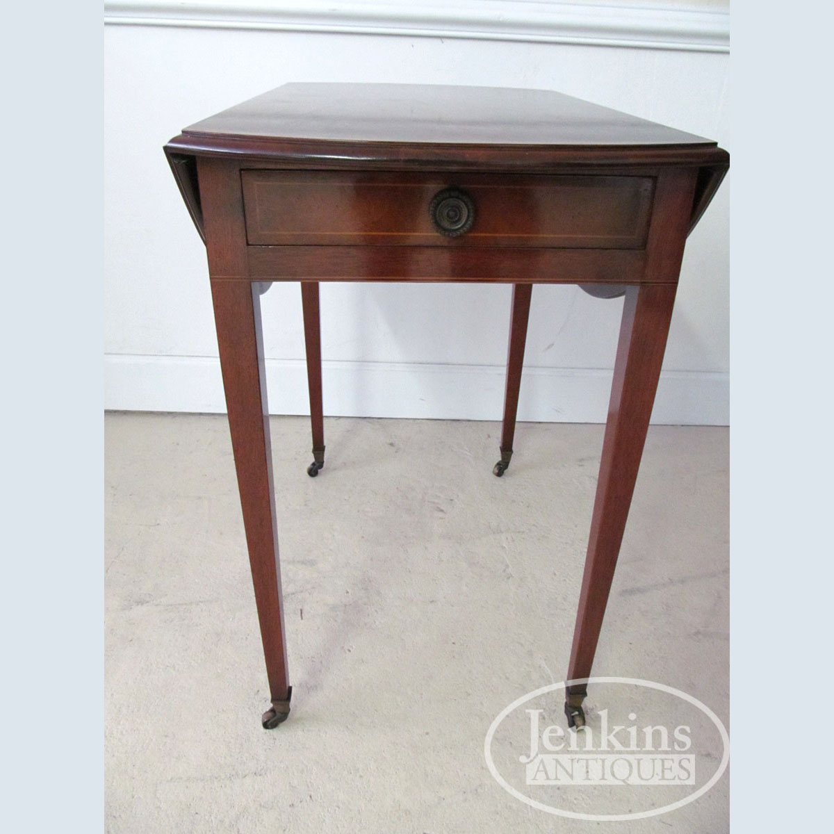 Beacon Hill Mahogany Drop Leaf Table With Inlay Jenkins Antiques
